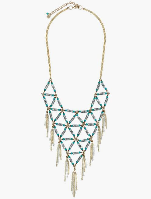 Turquoise Statement Collar Necklace,