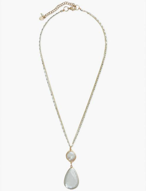 SINGLE PEARL COLLAR NECKLACE, SILVER