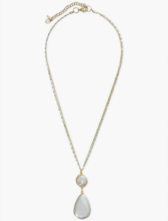 SINGLE PEARL COLLAR NECKLACE, SILVER, productTileDesktop