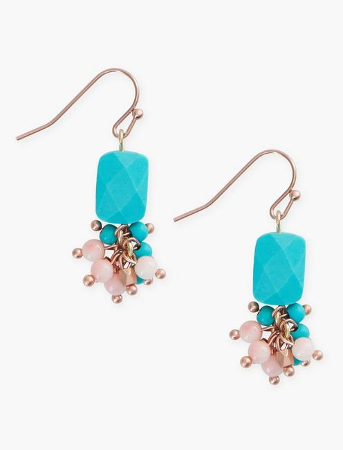Turq Bead Drop Earrings