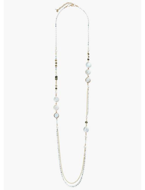 SINGLE PEARL LONG NECKLACE,