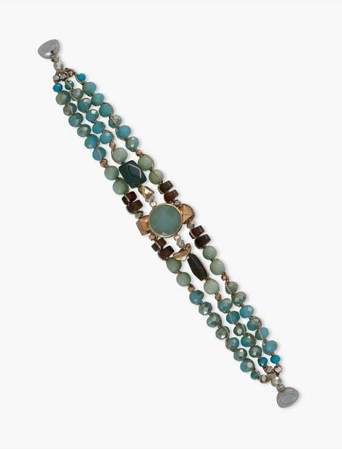 TURQUOISE CHASE BRACELET, SILVER