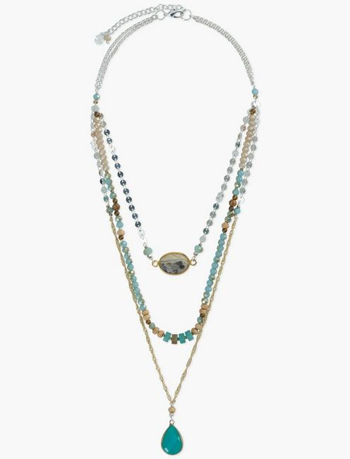 BEADED LAYER NECKLACE,
