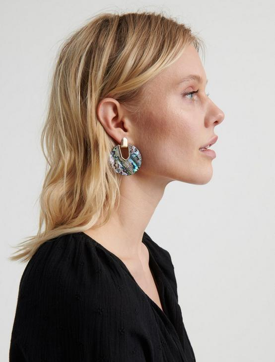 ACETATE DROP EARRING, SILVER, productTileDesktop
