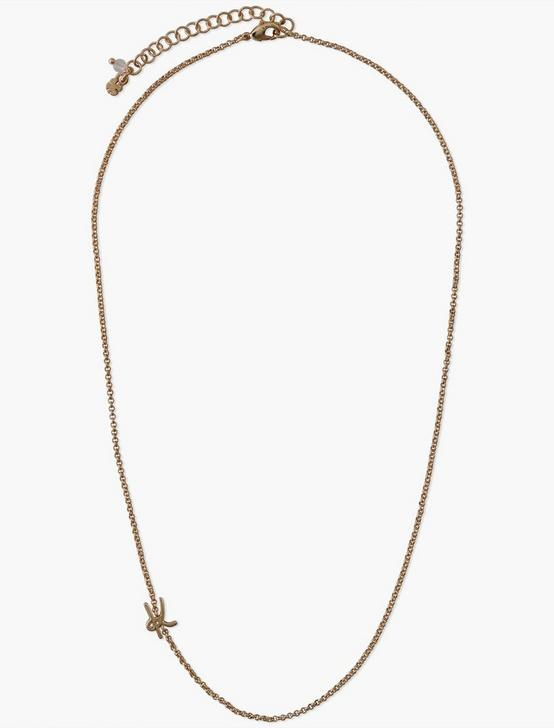 LETTER K NECKLACE, GOLD, productTileDesktop