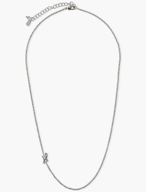 LETTER H NECKLACE, SILVER