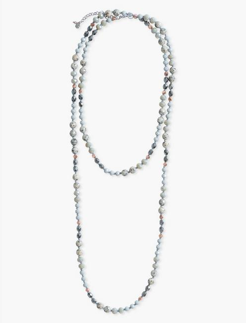 Beaded Necklace, TWO TONE