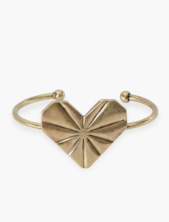 Heart Cuff, GOLD, productTileDesktop