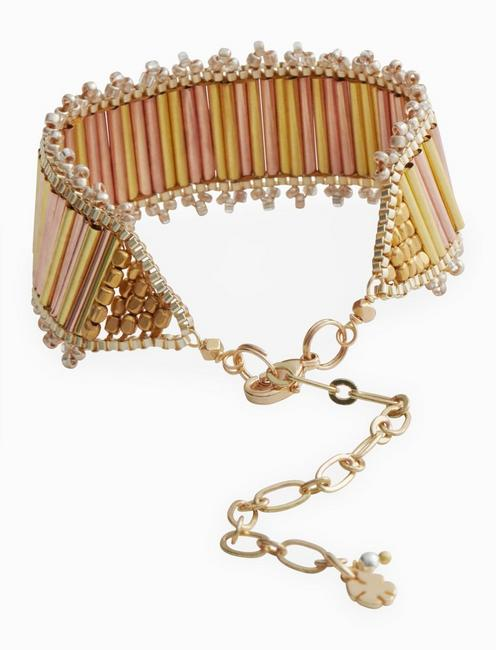 ROSEGOLD AND GOLD LINK BRACELET, TWO TONE