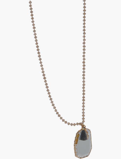 Blue Glass Pendant, GOLD