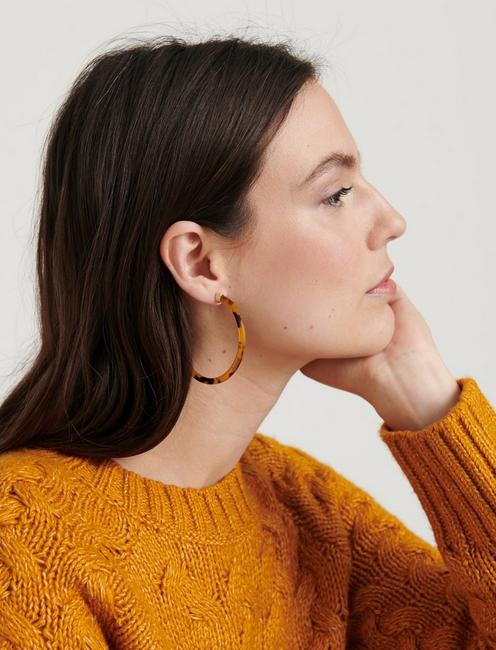 THIN ACETATE HOOPS, GOLD