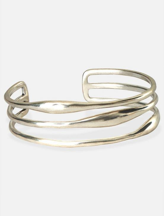 SIMPLE LIFE BAR CUFF, SILVER, productTileDesktop