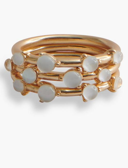 Mother of Pearl Ring Stack,