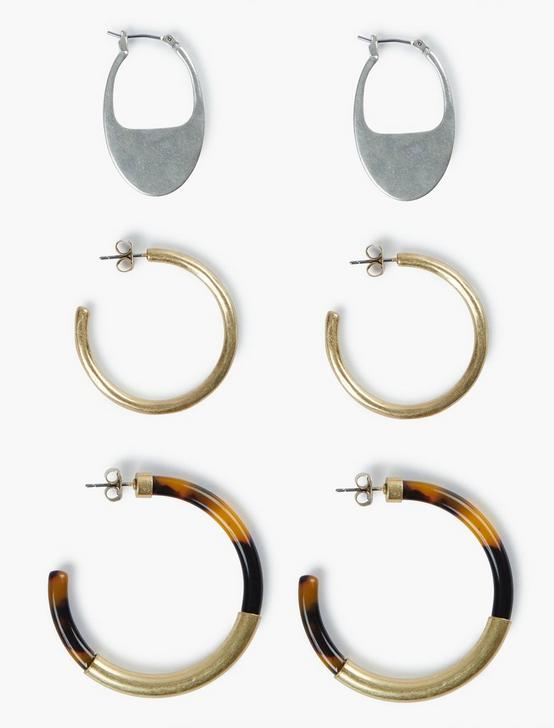 ACETATE HOOP TRIO, TWO TONE, productTileDesktop