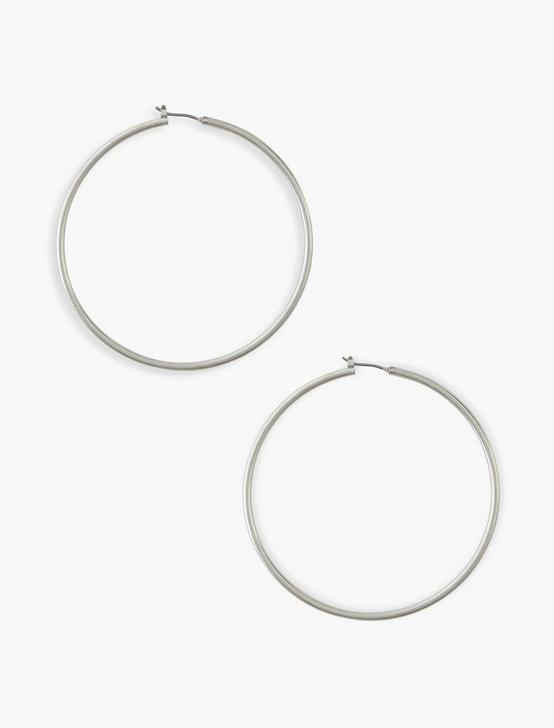 Large Skinny Hoop Silver, SILVER, productTileDesktop