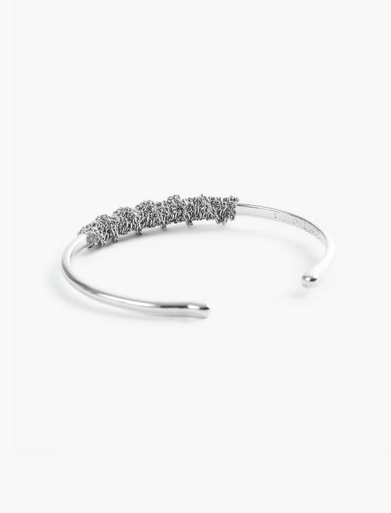 CHAIN WRAPPED CUFF, SILVER, productTileDesktop