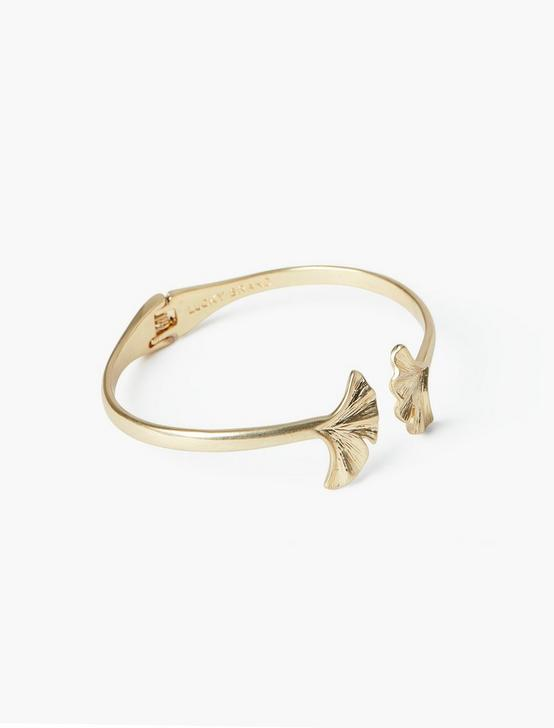 GINKGO HINGE CUFF, GOLD, productTileDesktop