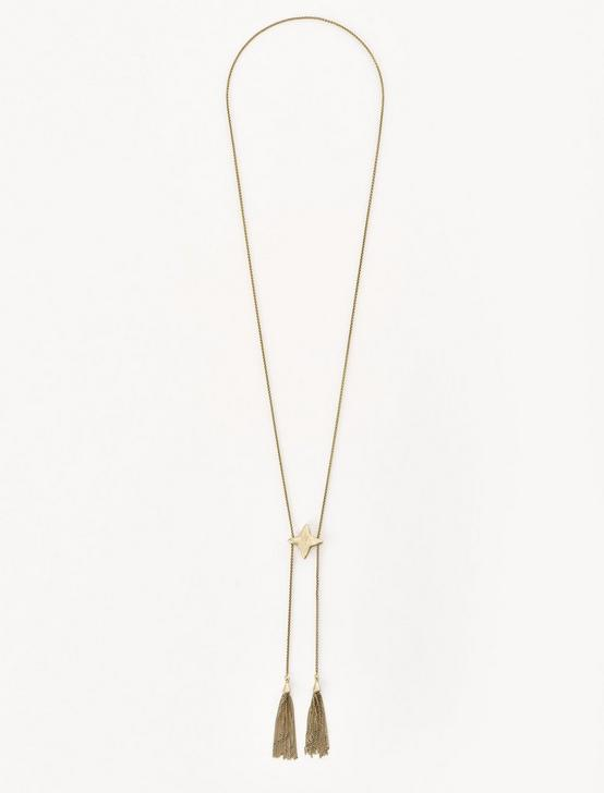 STAR TASSLE NECKLACE, GOLD, productTileDesktop