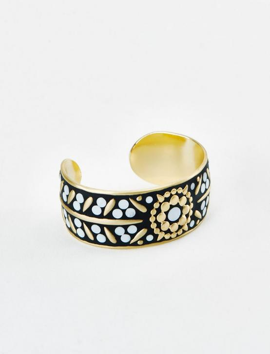 MOP INLAY CUFF, GOLD, productTileDesktop
