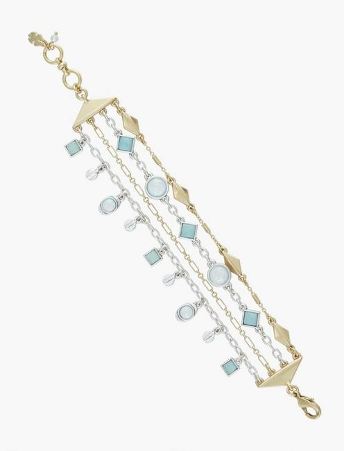LUCKY LAYER BRACELET, TWO TONE