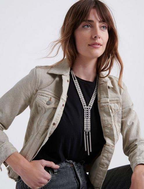 LADDER FRINGE NECKLACE, SILVER