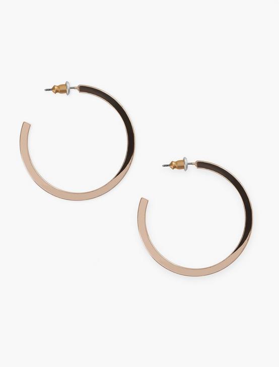 Square Hoop Earrings, ROSE GOLD, productTileDesktop