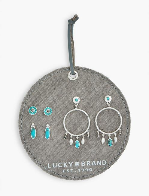 TURQ 3PIECE EARRING SET,