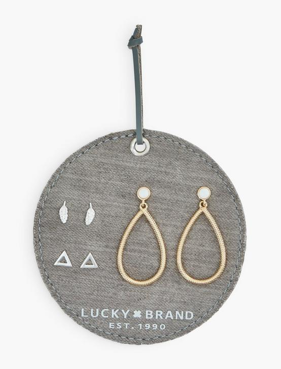 Ttone 3piece Triangle Earring Set