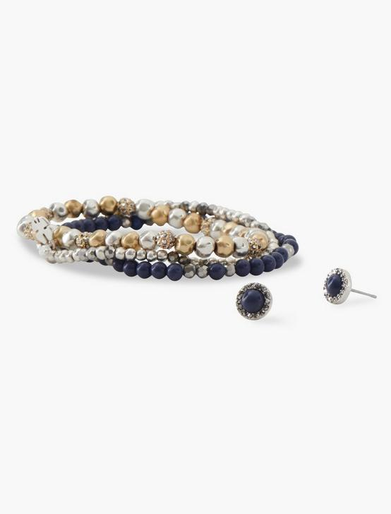 TTONE BEADED BRACELET, TWO TONE, productTileDesktop