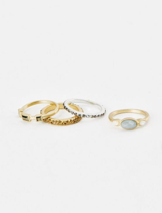 STACK RING SET, TWO TONE, productTileDesktop