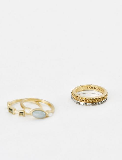 STACK RING SET, TWO TONE