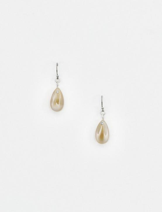 BROWN LACE AGATE DROPS, SILVER, productTileDesktop