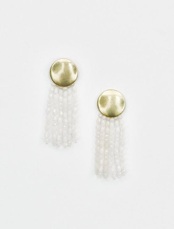 DANGLE BEADS POST EARRING, GOLD, productTileDesktop