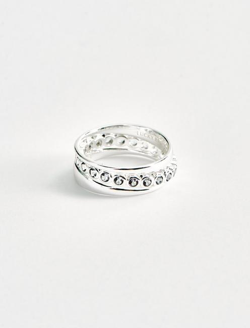 STERLING SILVER CIRLCE STACK RING SET, SILVER