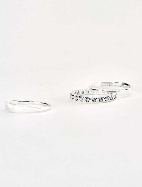 STERLING SILVER CIRLCE STACK RING SET, SILVER, productTileDesktop
