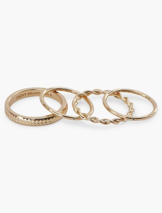 STERLING SILVER PAVE RING SET, GOLD, productTileDesktop