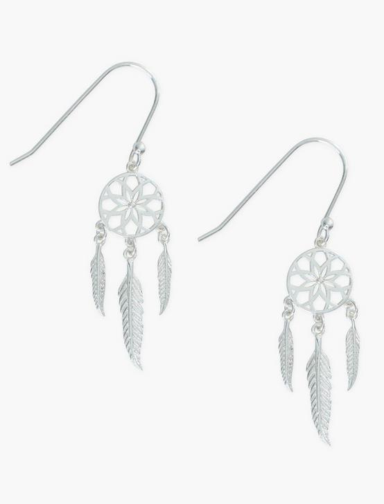 STERLING SILVER DREAM CATCHER EARRING, , productTileDesktop