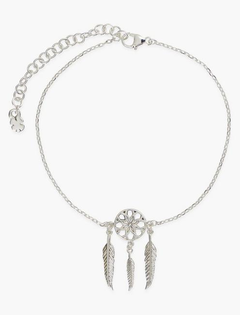 DREAM CATCHER CHARM BRACELET, SILVER