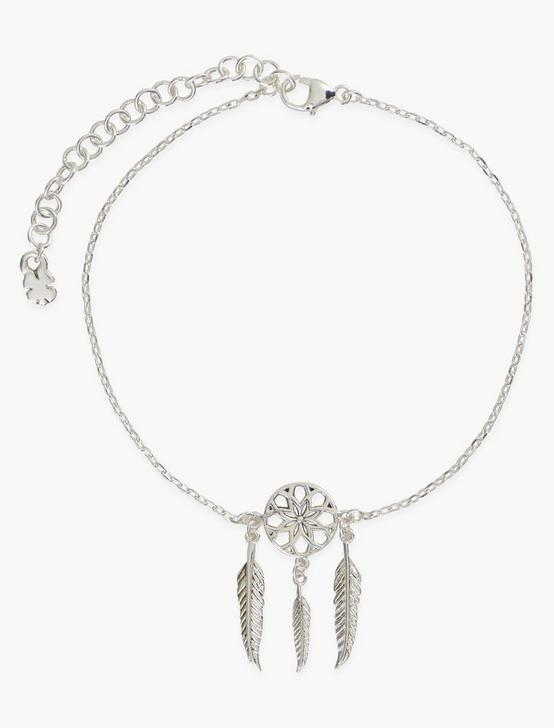 STERLING SILVER DREAM CATCHER CHARM BRACELET