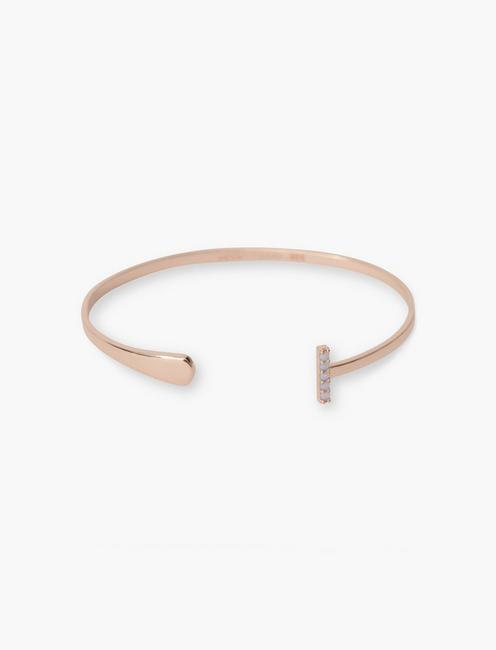 STERLING SILVER SIMPLE CUFF, ROSE GOLD