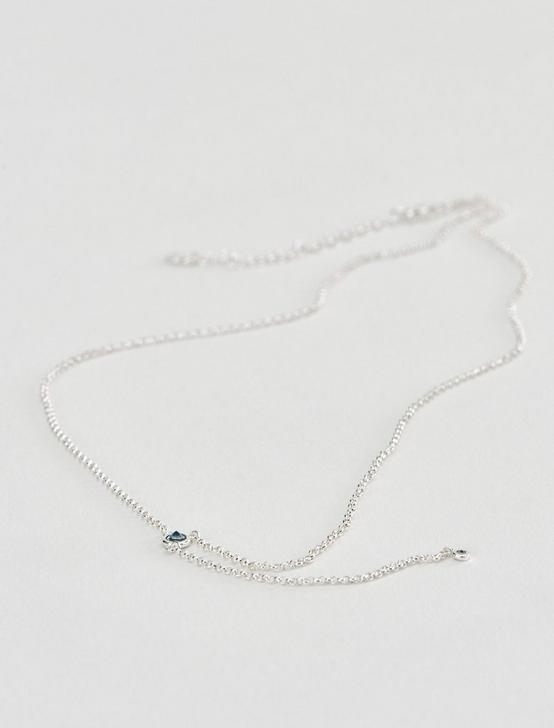 SILVER ORGANIC Y NECKLACE, SILVER, productTileDesktop