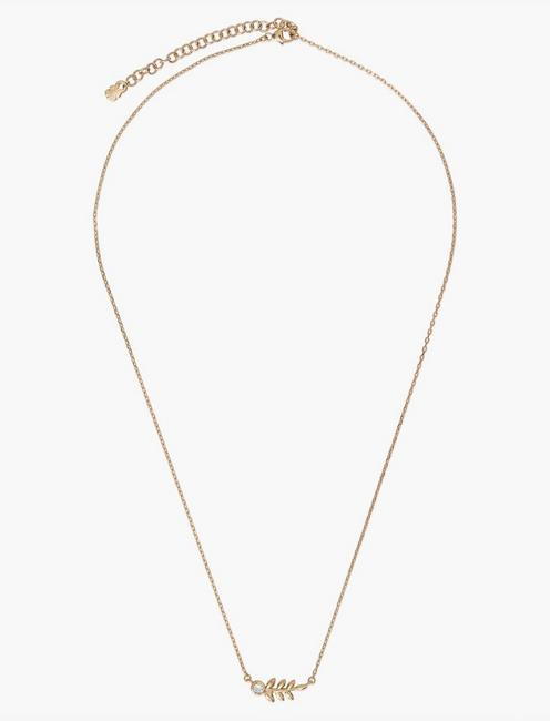 GOLD LEAF NECKLACE, GOLD