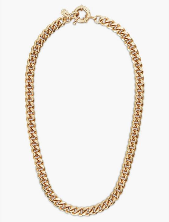HEAVY CHAIN NECKLACE, GOLD, productTileDesktop
