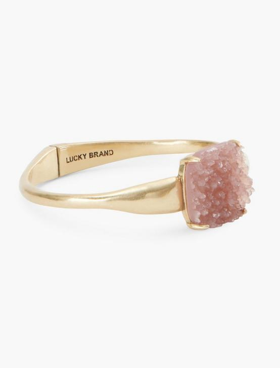 GOLD PINK DRUZY CUFF, GOLD, productTileDesktop