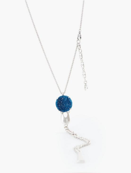 DRUZY CHAIN Y NECKLACE, SILVER, productTileDesktop
