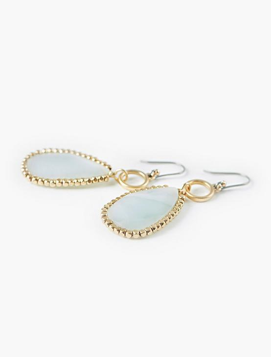 STONE DROP EARRINGS, GOLD, productTileDesktop
