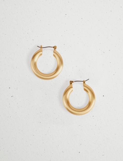 GOLD HOOP EARRINGS,
