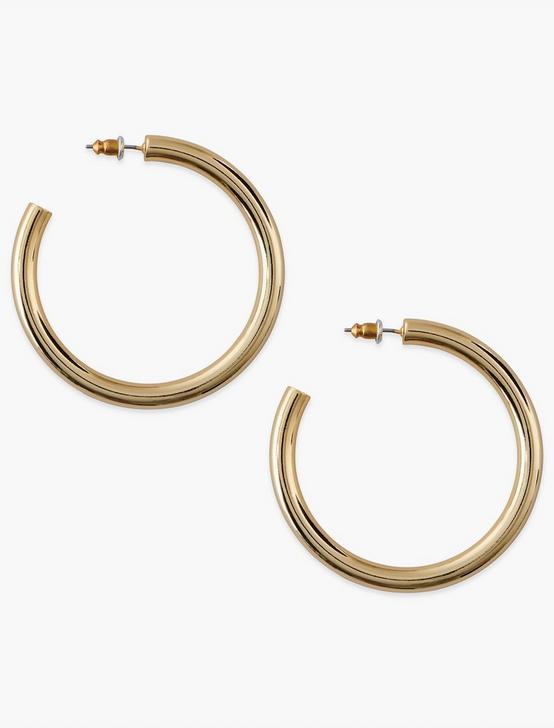 Carrie Hoop Earrings, GOLD, productTileDesktop