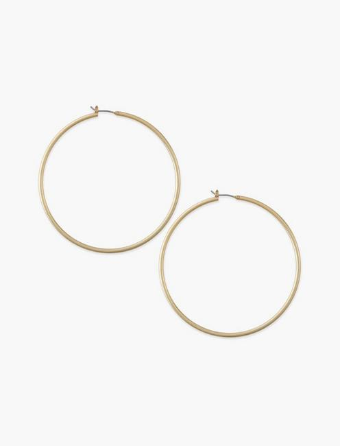 Large Skinny Hoop Earrings, GOLD