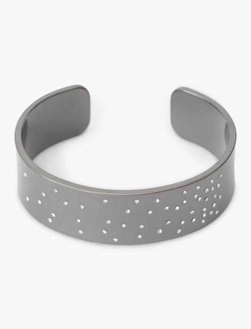 SCATTERED PAVE CUFF, SILVER